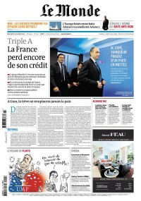 « Le Monde » Front Page on