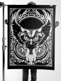 058 - Oversized Silk Screen Prints on