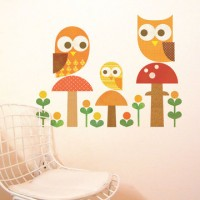 Fab.com | Owl Family Wall Decal