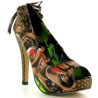 Iron Fist - Tiki Toes Platform - Brown - Womens