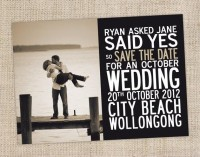 Printable Save the Date Card Wedding by CocoEllaDesigns on Etsy