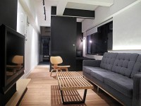 Hong Kong Apartment with Space Invaders Bathroom by OneByNine | Design Milk