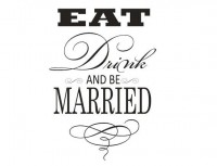 Eat Drink and be Married Rubber stamp 5454 by stampoutonline