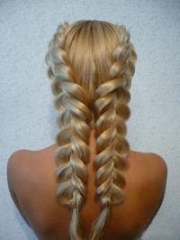 two line classical hair style - StyleCraze