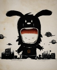 microbians : Illustration - Little Rabbit in Tokyo