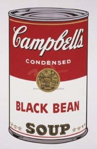 Campbell s Soup I: Black Bean, 1968 by Andy Warhol - Vintage Andy Warhol Poster