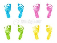 Newborn Footprints | Stock Photo | iStock