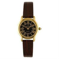 Buy.com - Sartego SEN782R Gold Tone Toledo Dress Watch Black Dial Strap