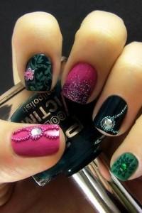 color stone nail art - StyleCraze