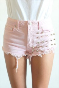 Pink Madder Spike Studded Cut-offs | tarte. | New & Vintage Clothing & Accessories