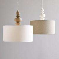 Just So Lovely: A DIY West Elm Turned Wood Pendant Light