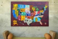 Buy License Plate Art and License Plate Maps by Design Turnpike