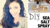 DIY Sea-Salt Spray for Beautiful Curls - YouTube
