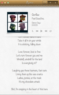 Strophes. Beautiful Lyrics Reader for Mac