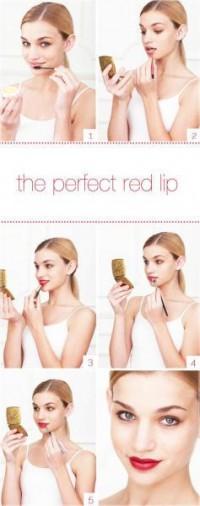 perfect red lip makeup - StyleCraze