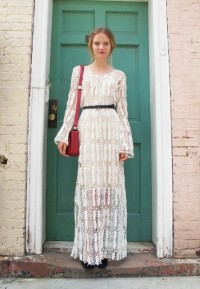 Jam's strawberries / lace/crochet/sheer dressThe Dollhouse