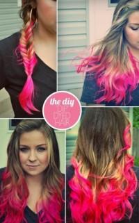 dip dyed hair - StyleCraze