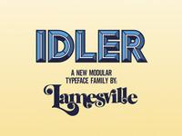 Idler: A New Modular Typeface Family By Lamesville on Vimeo