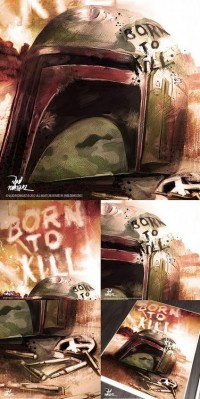 Art to Boba fett in Full Metal Jacket…Born to... - Vlad Rodriguez