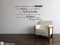 I'm selfish impatient Marilyn Monroe Quote Saying by thestickerhut