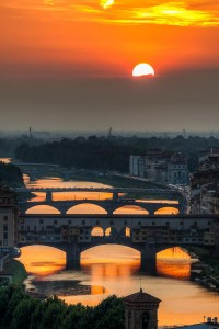 "500px / Photo ""Sunset over Arno"" by Giuseppe Torre"