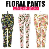 Miranda Kerr Works Floral Pants Two Different Ways
