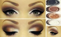 gold mix eye makeup - StyleCraze