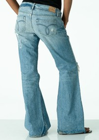 Paris Blues Lola Destroyed Bootcut Jean at Alloy