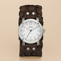 FOSSIL® Watches Leather Watches:Womens Imogene Leather Watch - Dark Brown JR1290