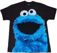 Sesame Street Shirts - Cookie Monster Big Photo T-Shirt by Animation Shops