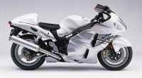 Suzuki Hayabusa GSX1300R White HD Wallpaper | Magicwallpapers.net