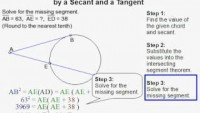 How to Find a Segment Formed by a Secant and Tangent - YouTube