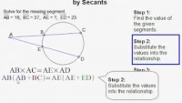 How to Find the Measure of a Segment Formed by Two Secants - YouTube