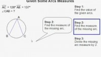 How to Find the Measure of an Inscribed Angle Given Some Arc Measures - YouTube