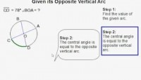 How to Find the Measure of a Central Angle When Given its Opposite Vertical Arc - YouTube