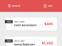 Invoice Web App by Alex Penny