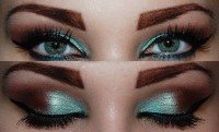 pistachio with chocolate eye makeup - StyleCraze