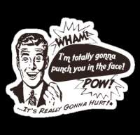 """I'm Gonna Punch You!"" Stickers by Josh Legendre 
