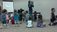 Attending story time with Mallory at West Boynton Beach library