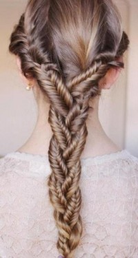 put your hair in one big braid - StyleCraze