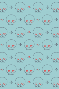 Hearts-Skull-Wallpaper.png by Jackie Saik