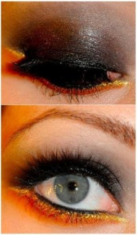 dark gold eye makeup - StyleCraze
