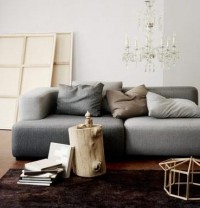 High/Low Design: Gray Couch : Remodelista