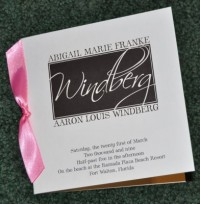 Sample Wedding Programs: February 2009