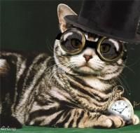 steam punk kitty photo - made in Aviary - photo editor