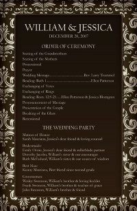 wedding programs | Wedding In Portland