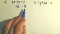 An Intro to Solving Linear Equations: Solving some Basic Linear Equations - YouTube