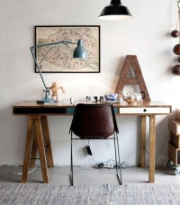 """???""""A"""" ,desk lamp and the old Paris map - morning breeze"""