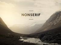 Dribbble - Nonserif - Word mark by Henning Gjerde — Designspiration