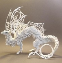 White Lattice Dragon by ~creaturesfromel | Wall of Fame | Daily Inspiration